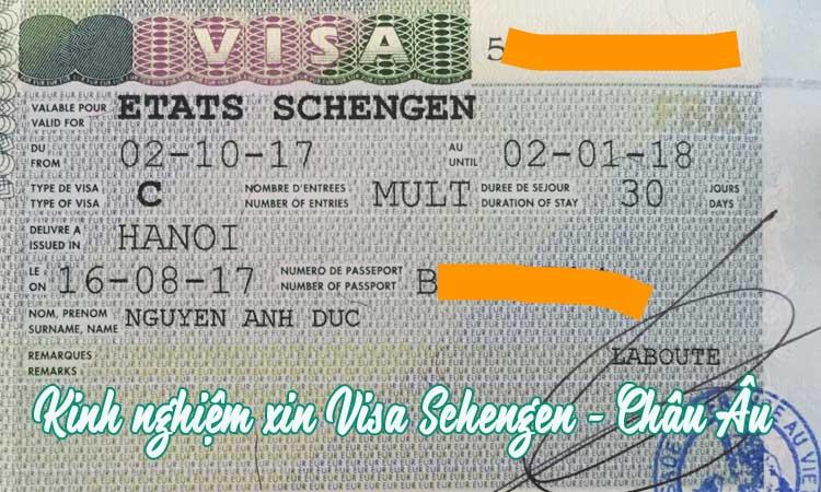 kinh nghiệm và thủ tục xin visa shcengen, châu âu